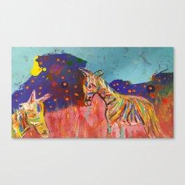 Zebra's Friday night party Canvas Print