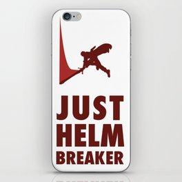 JUST HELM BREAKER RED iPhone Skin
