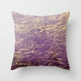 Purple Abstract art Throw Pillow