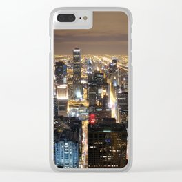 Chicago by night Clear iPhone Case