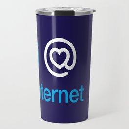 I heart internet Travel Mug