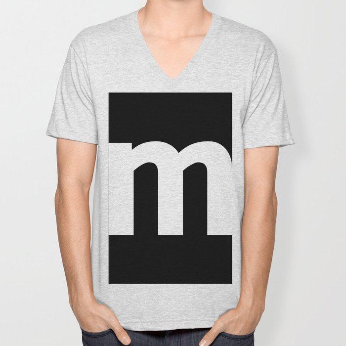 letter M (White & Black) Unisex V-Neck