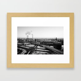 Berlin during winter Framed Art Print