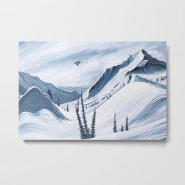 'Chads Gap' Iconic Snowboarding Moments Metal Print