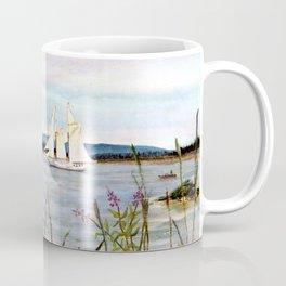 Sailing through Stonington Harbor, Maine. From watercolor painting by Pamela Parsons. Coffee Mug