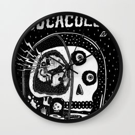 journey in to the ghastly mind of cucacolor Wall Clock