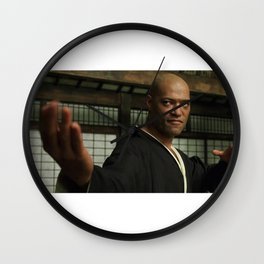 𝗡𝗼𝘃.𝟳   Society6 Online Photography - Home & Office Art - Laurence John Fishburne III BRING IT Wall Clock