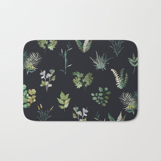 Green Nature at Night Bath Mat