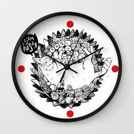 Jajan Pasar Meow Wall Clock