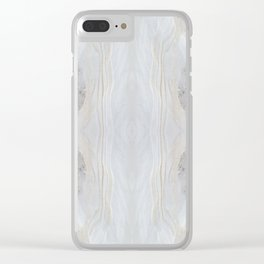 Sandy Snow Banks Clear iPhone Case