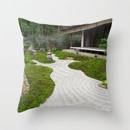 up the gravel garden path Throw Pillow