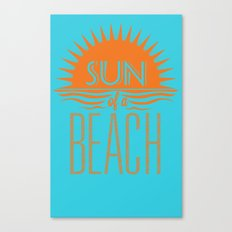 Sun of a Beach Canvas Print
