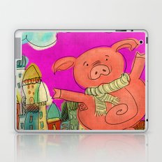 Piggy Pig - magenta Laptop & iPad Skin