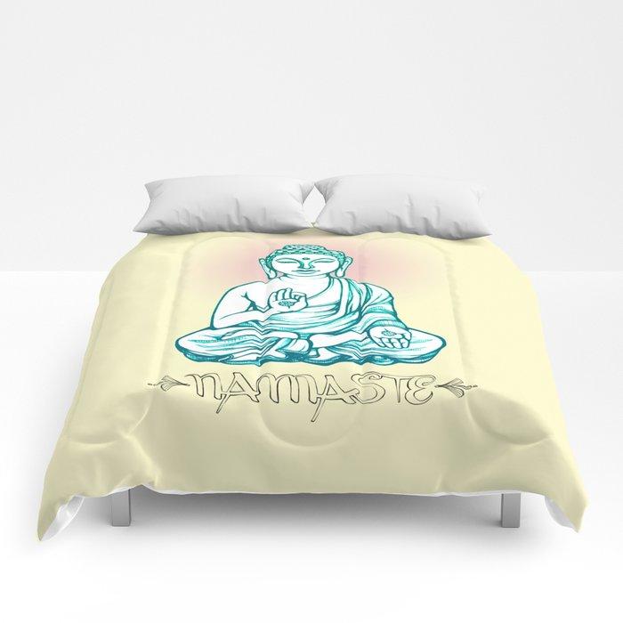 Buddha Namaste Comforters