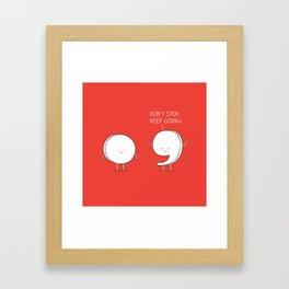positive punctuation Framed Art Print