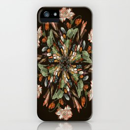 Flemish Floral Mandala 3 iPhone Case