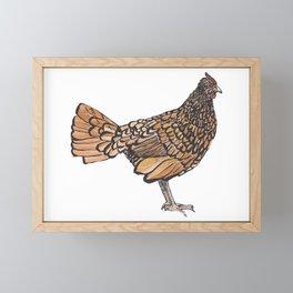 Sebright Hen Framed Mini Art Print