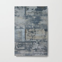 Warehouse District -- Vintage Industrial Farm Chic Abstract Metal Print
