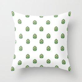Green Easter Eggs Wall Art Decor Throw Pillow