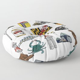Maryland Flash Sheet - Color Floor Pillow