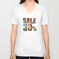 sale V-neck T-shirts featuring Sale by Gerko
