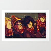 marauders Art Prints featuring The Marauders by VVIVAA