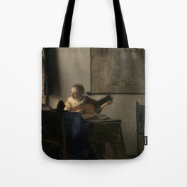 Young Woman with a Lute Tote Bag