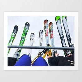 Ski All Day Art Print
