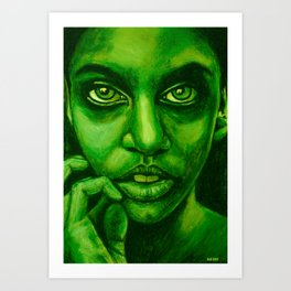 don't panic! green Art Print