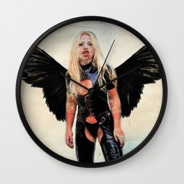 Winged Avenger Wall Clock