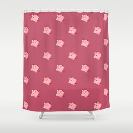 The cutest evil demon ever! pattern Shower Curtain