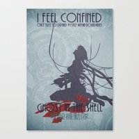ghost in the shell Canvas Prints featuring Ghost in the Shell by [SilenceCorp.]