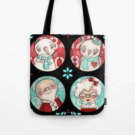 Christmas Mash Up - The Snowmen and The Clauses Tote Bag
