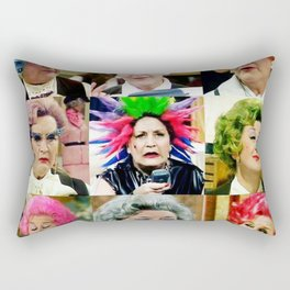The Faces of Slocombe Rectangular Pillow