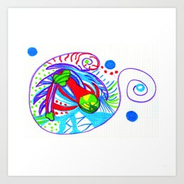Caracol-box Art Print