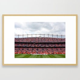 Blue & Orange Framed Art Print