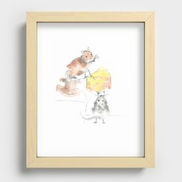 Little Mice, cheese and the story of teamwork Recessed Framed Print