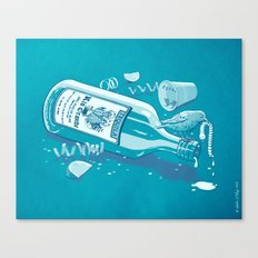 The Late Party Bird Gets the Worm Canvas Print