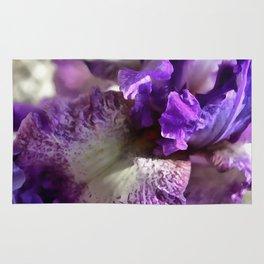 Purple, Violet and Mauve Iris Abstract Rug