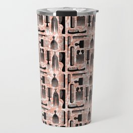 Comb Through red pattern Travel Mug