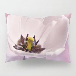 Poppy white macro 077 Pillow Sham