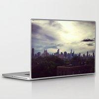 manhattan Laptop & iPad Skins featuring Manhattan  by Claire Beaufort