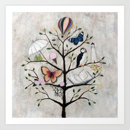 Curious Deciduous Art Print