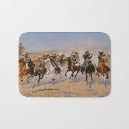 A Dash for the Timber - Frederic Remington Bath Mat