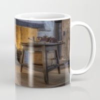 kitchen Mugs featuring Olde Kitchen by Ian Mitchell