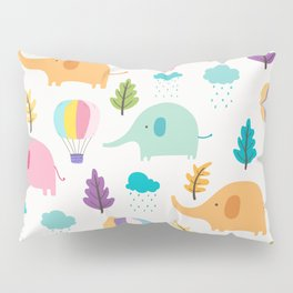 Cute Elephant Pillow Sham