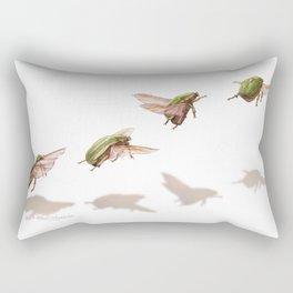 beetle  flight Rectangular Pillow