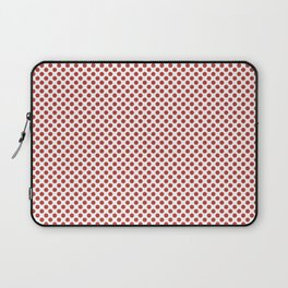 Aurora Red Polka Dots Laptop Sleeve