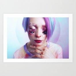 Starry Eyed Girl Art Print