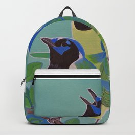 3 Green Jays Backpack